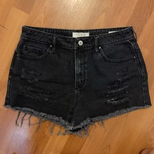 Pacsun sun high waist short black sz 29